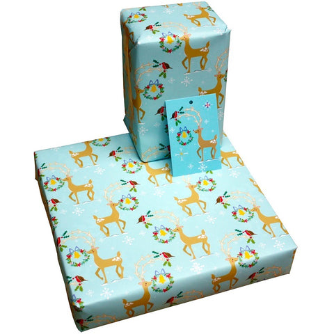 Re Wrapped Recyable Christmas Wrapping Paper  - Christmas Squirrels by Vicky Scott
