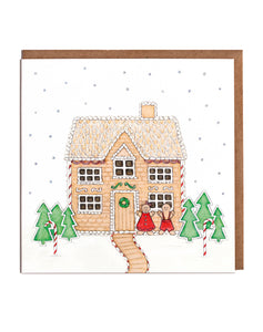 Lottie Murphy Ginger Bread House Christmas Card