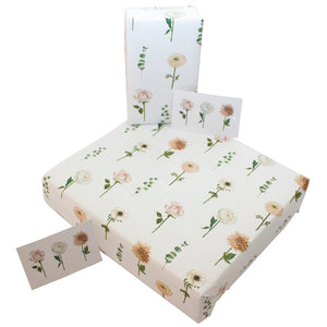 Re Wrapped Recycled Wrapping Paper - Wedding Carnations by Sophie Botsford