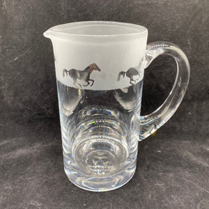 Milford Collection - Amino Glassware - Galloping 1 Litre Crystal Jug - Galloping Horse