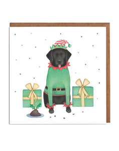 Lottie Murphy Labrador Christmas Elf Christmas Card