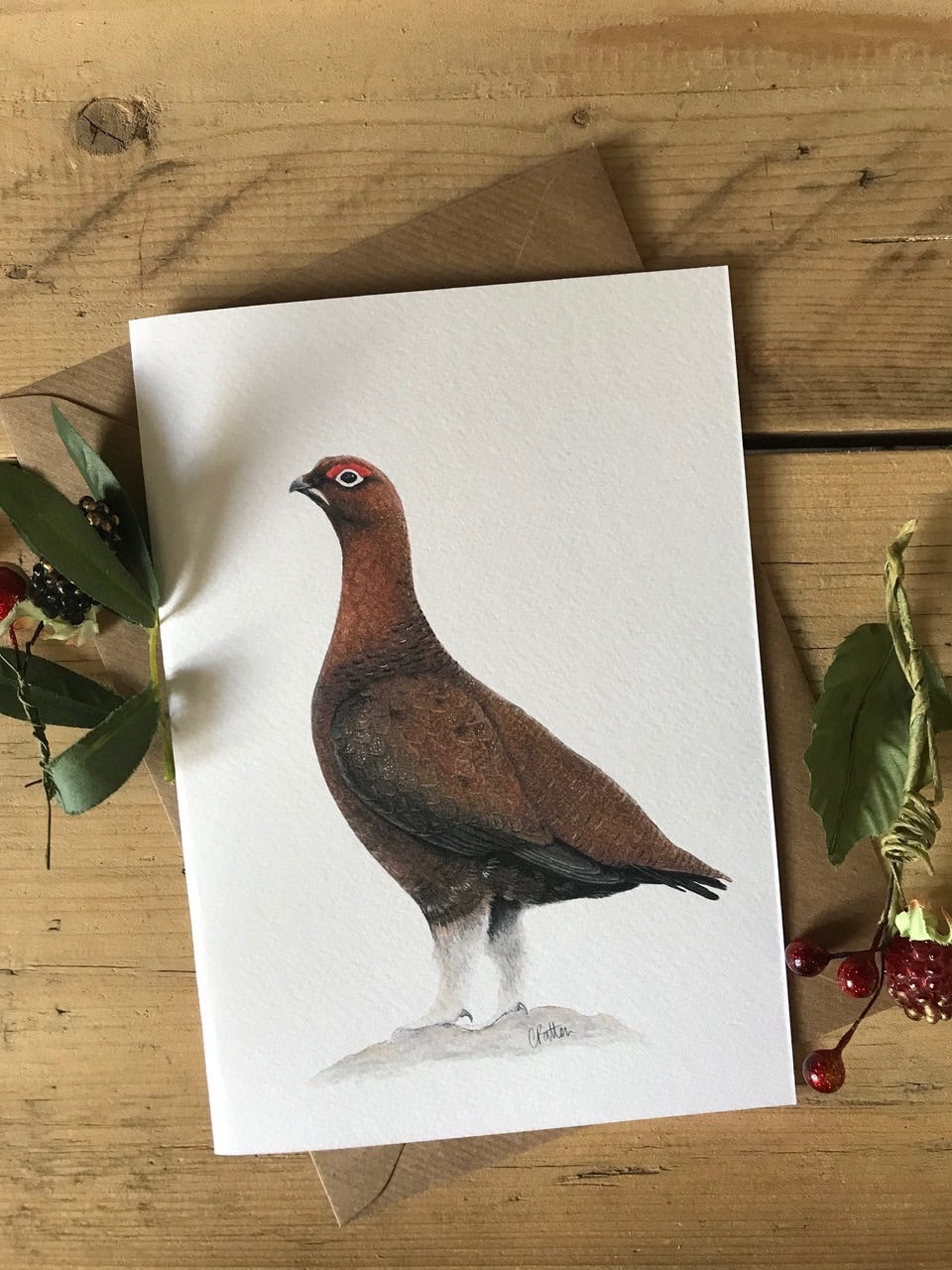 Charlotte Patten - A6 Red Grouse Card