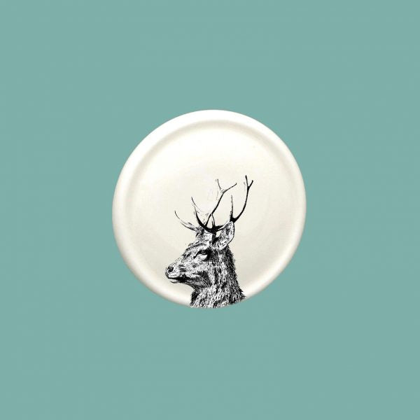 Little Weaver Arts - Imperial Stag China Coaster