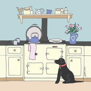 Aga And Labrador Greetings Card - Emma Lawrence