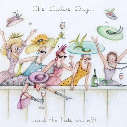 Berni Parker Blank Greetings Card - Its Ladies Day