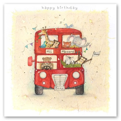 Berni Parker Blank Greetings Card - All Aboard