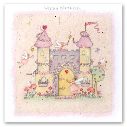 Berni Parker Blank Greetings Card - Fairy Castle