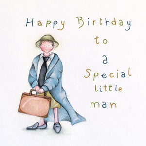 Berni Parker Blank Greetings Card - Happy Birthday Special Little Man