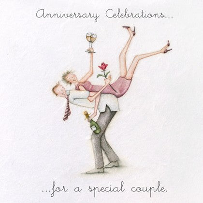 Berni Parker Blank Greetings Card - Anniversary Celebrations