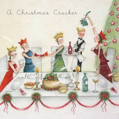 Berni Parker Designs Christmas Card - A Christmas Cracker