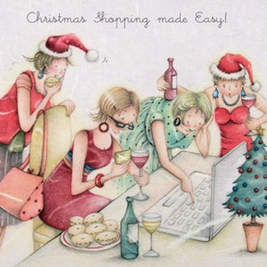 Berni Parker Designs Christmas Card - Christmas Shopping Made Easy