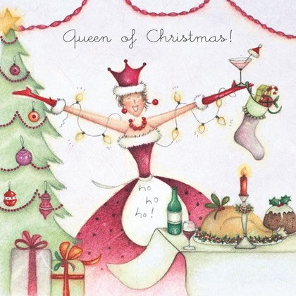 Berni Parker Designs Christmas Card - Queen of Christmas