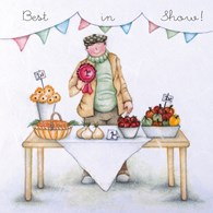 Berni Parker Blank Greetings Card - Best In Show