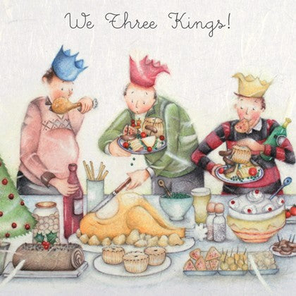Berni Parker Designs Christmas Card - We Three Kings
