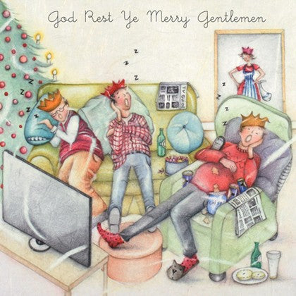 Berni Parker Designs Christmas Card - God Rest Ye Merry Gentlemen