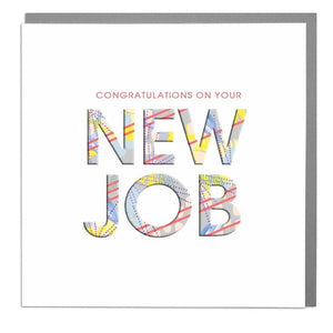 Lola Designs Ltd - Hola Neon Blank Greetings Card - New Job