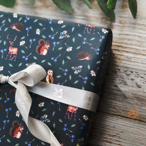 Woodland Creatures Gift Wrap and Tag