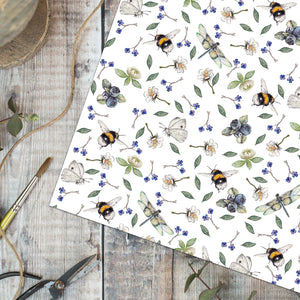 Wild Flower Meadow Gift Wrap and Tag