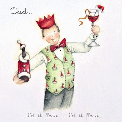 Berni Parker Designs Dad Christmas Card - Let it Flow