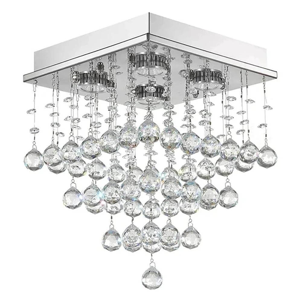 Mini Square Crystal Raindrop Chandelier