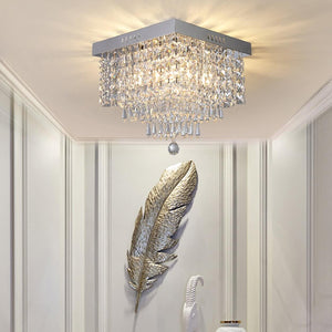 Square Hallway Crystal Chandelier