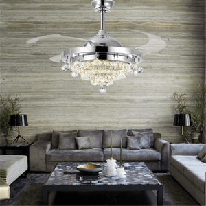 Retractable Chandelier Ceiling Fan