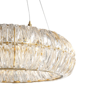 Crystal Pendant Light with Pineapple Shaped