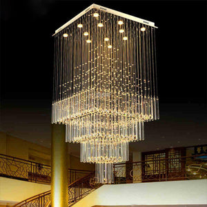 Contemporary Raindrop Crystal Chandelier  Flush Mount
