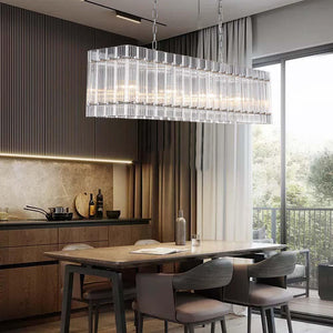 Crystal Chandelier With Rectangle Stripe