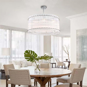 Pendant Light With Drum Shaped