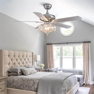 Chandelier Combo Ceiling Fan with Crystal Shade