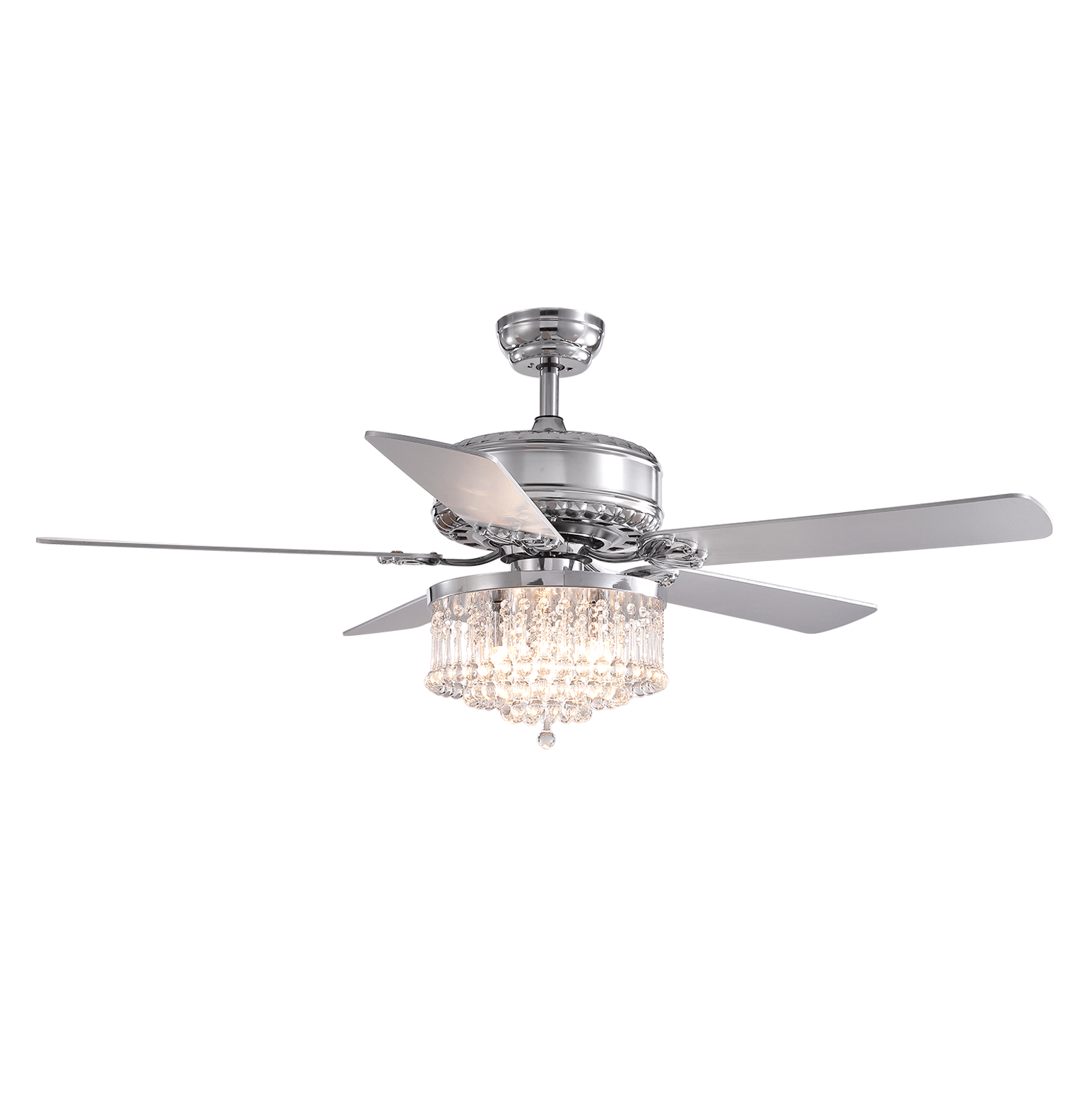 LED Crystal Ceiling Fan with Chrome