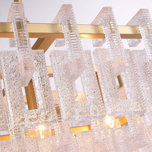 Crystal Rectangle Pendant Light