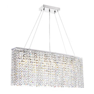Contemporary Rectangle Crystal Chandelier
