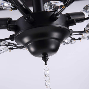 Crystal Branching Ceiling Light