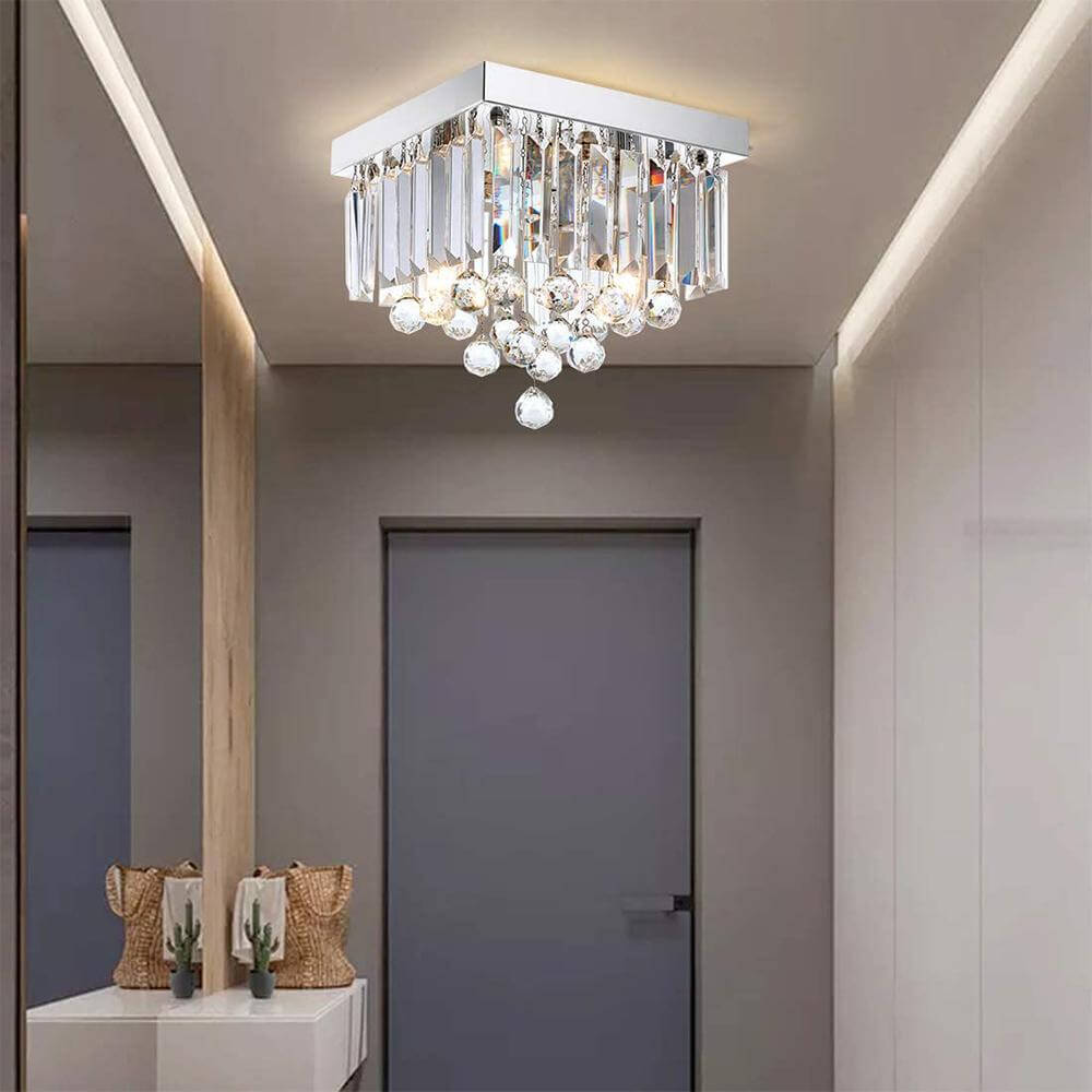 Square Raindrop Ceiling Light