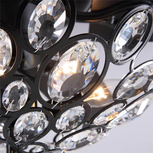 Industrial Crystal Chandelier Ceiling Fan