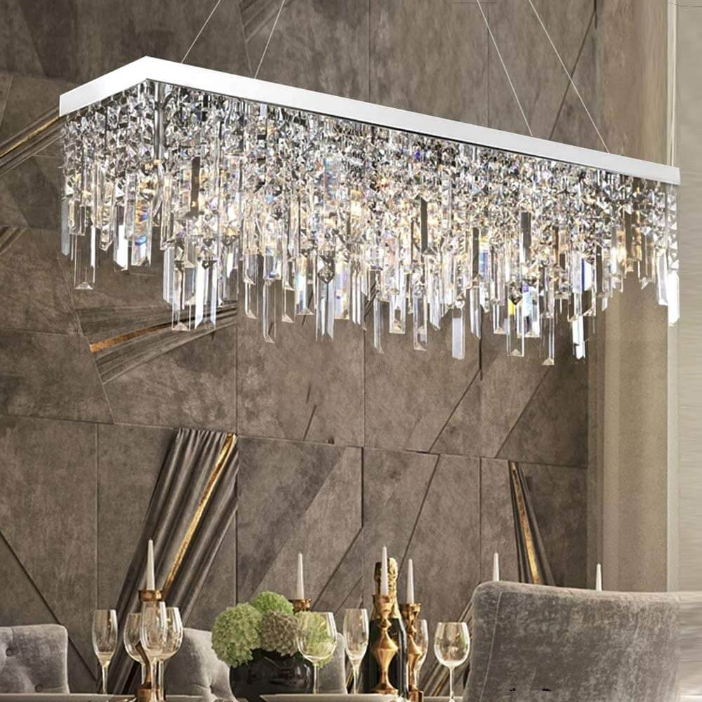 Modern Linear Rectangular Pendant Lighting