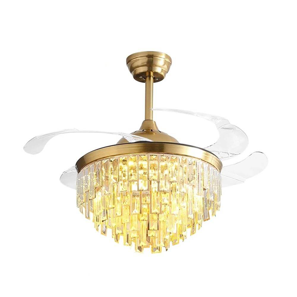 Modern Crystal Chandelier Ceiling Fan