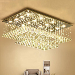 Double Layers Crystal Chandelier