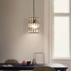 Pendant Light with Crystal Line