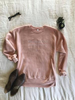 You are a Story Worth Loving Bella Canvas Peach Sponge fleece 3901 Crewneck Sweatshirt Grace Presley