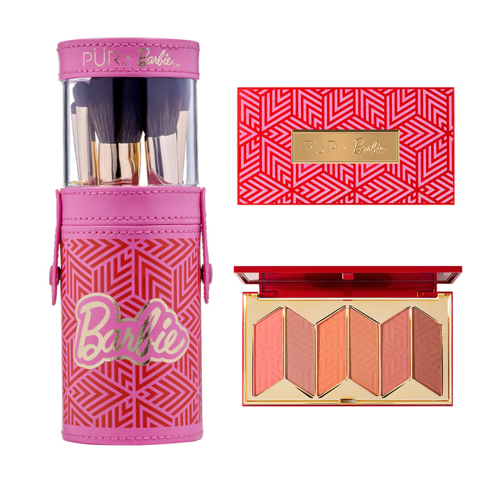 PUR - Barbie Brush Set and Blush Palette Bundle