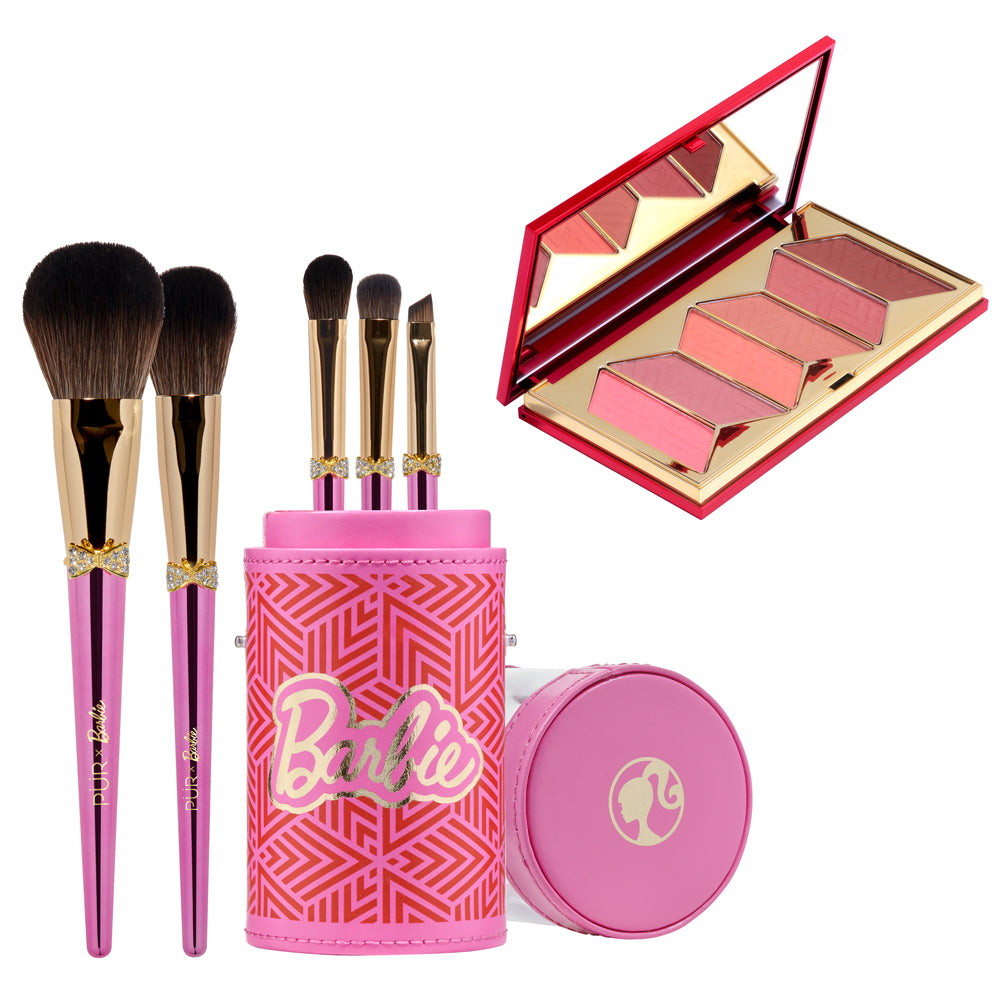 Brush & Blush Brush Set and Blush Palette Bundle