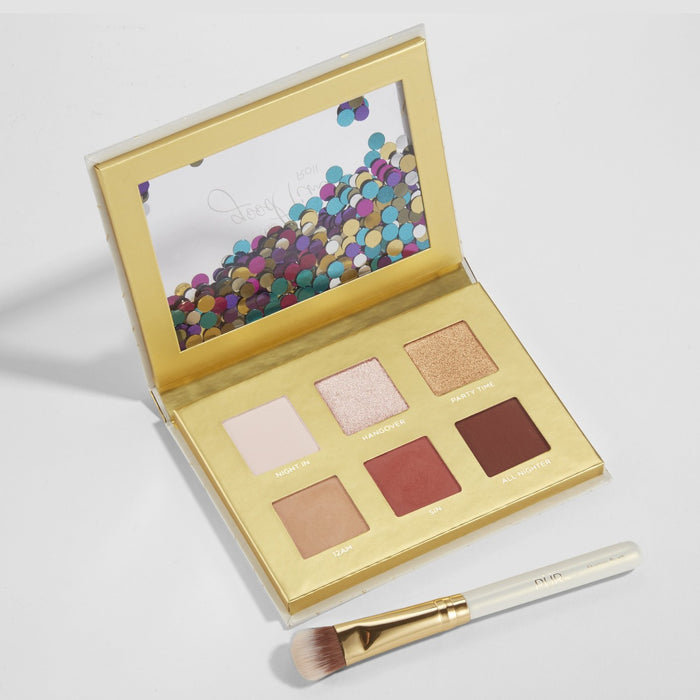 Let The Good Times Roll Limited Edition Sweet 16 Travel Eyeshadow Palette and Shadow Brush