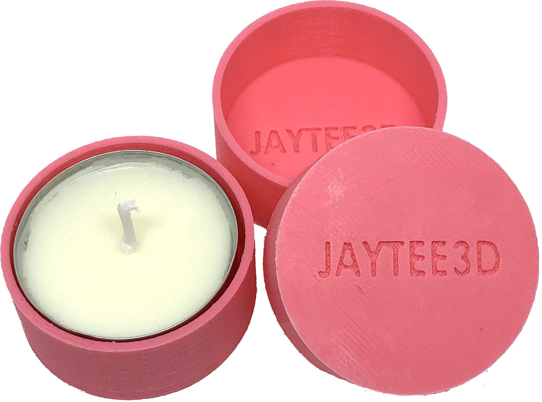 Tea light candle holder ( 5 pack - same colour ) with 15 tea light candles