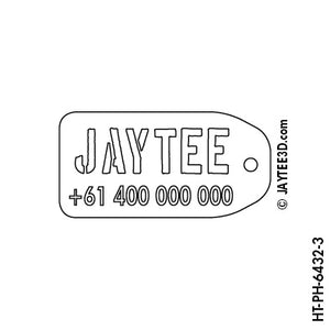 Luggage Tag with Phone Number