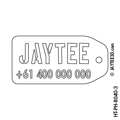 X-Large Luggage Tag with Phone Number