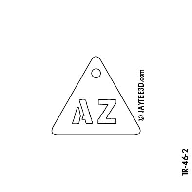 Small Triangle - 2 Initials