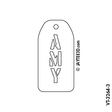 Large Vertical Tag - Short Name